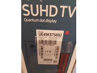 Samsung 49in suhd curved quantum dot display.