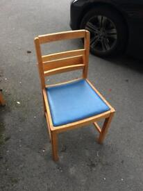 Vintage church chair pew seating bistro cafe retro