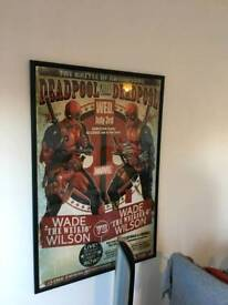 Deadpool poster with frame