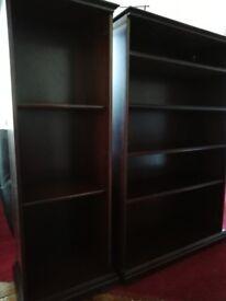 Beautifil pair of mahogany book shelves. Make: Legate.