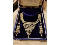 Beautiful Indian Crystal Wedding Jewellery in origional case