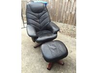 Brett's swivel reclining full 100% leather chairs - great condition