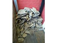 Real stone wall cladding-free
