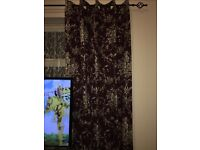 Dunelm Adriana Sateen Plum Thermal Eyelet Curtains
