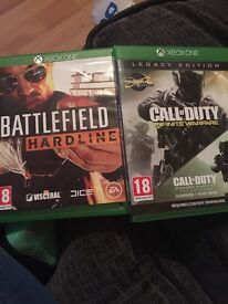 Two Xbox One games for sale