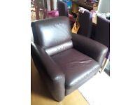 IKEA Brown Leather Armchair