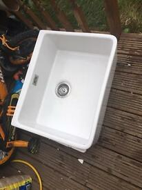 Large White Butler Sink