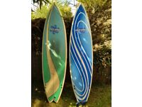2 x 6'10 Powersource Surfboards