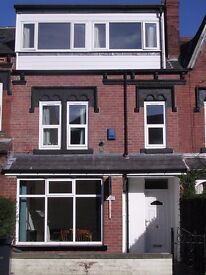 Large furnished room in professional house for five, rent including most bills.