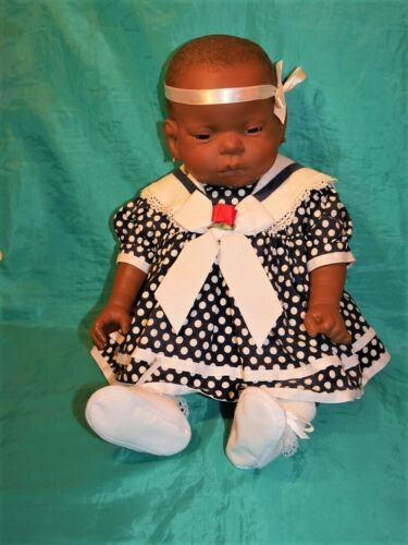 AA AF-AM Black Baby Think It Over Girl Retired Teaching Doll BTIO  Ships Free