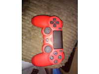 red playstation 4 controller exellent condition