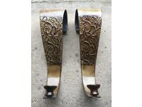 Pair of attractive, metal wall sconces