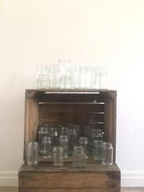 Clear empty jars for wedding/candles x 20 bundle