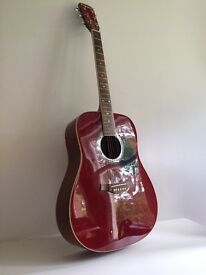 Guitar Acoustic Westfield B200 Full Size Dreadnought Red