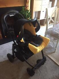 Graco Evo full pushchair set including car seat