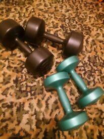 Two sets BODYBILD dumbbells - 5kg & 2.5kg - PLUS - Body Style Hydraulic stepper - £50 - O.N.O