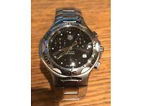 100% Genuine TAG HEUER Gents Kirium Chronograph Black Dial Steel Case CL1110-0 Quartz