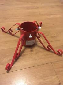 "Red sparkle 5""inch Christmas Tree Stand"