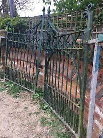 Antique wrought iron gates pair will consider offers