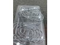 2 x Double plate candle food warmers