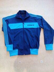 Adidas Vintage Blue Sports Zip Jacket