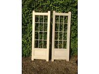 Pair Patio Doors New bespoke made in Primer never fitted
