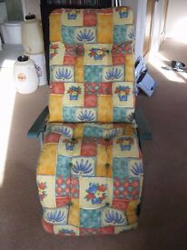 Reclining Garden Conservatory High Back Chair / Lounger. Very comfortable,