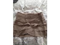 Topshop size 12 brown vintage skirt