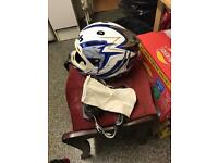 Airoh dome motocross helmet and goggles