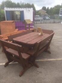 Solid pine wood Table&4bench SALE £250