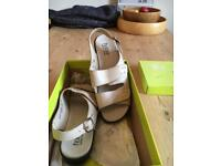 NEW Hotter leather beige sandals UK size 5