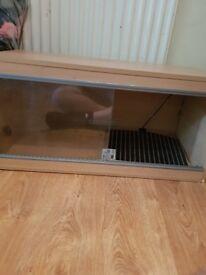 3 ft vivarium going cheap 25 pound with large heat mat