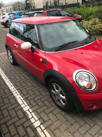 2010 Red Mini One, New tyres, 1 year MOT full service history