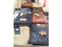 Job lot 13 pairs of mens jeans new with tags. Mishmash, firetrap, full circle.