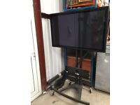 """Unicol Mobile Heavy Duty TV / Monitor Stand with 50"""" Panasonic Monitor"""