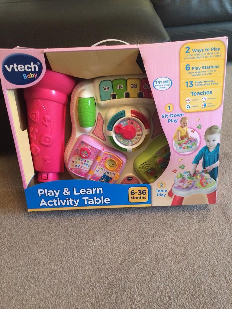 VTech Activity Table, excellent condition with original box.