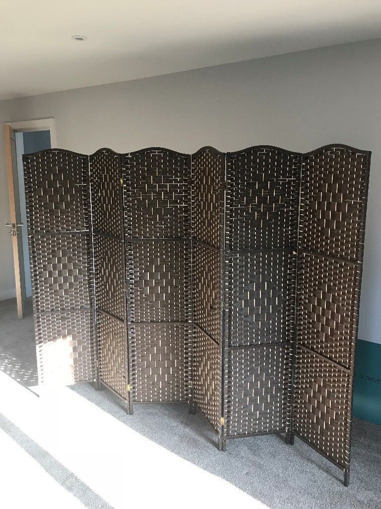 Decorative Wooden Room Dividers Screens 3x 6 Panel 1 X 3