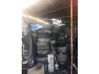Job lots of tyres, Toyota, Nisan, Ford, Vauxhall etc