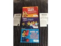 2 X legoland Windsor tickets