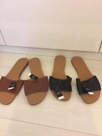 7 pairs brand new Next flat sandals size 8