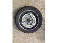 ST1100 Pan European complete rear wheel with part worn tyre