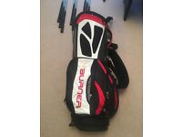 Taylormade Burner left handed golf clubs set of irons and Taylormade Burner Golf Bag