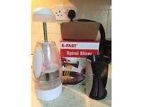 Food chopper and spiral slicer