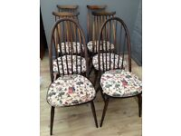 6 ERCOL CHAIRS -2 QUAKER /4 GOLDSMITH/IMMACULATE CONDITION/CHAIRS COME WITH GENUINE ERCOL SEAT PADS