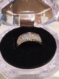 #1185 14K LADIES .58CT DIAMOND CLUSTER SIZE 6 3/4  FIRST TIME OFFERED JUST BACK FROM APPRAISAL-GREAT VALUE $995.00