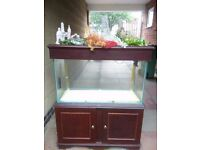 3 ft fishtank with stand