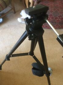 Camera Tripod. Lightweight, Highly Portable, Good Condition, Bagged & Very Inexpensive. Cobra Brand