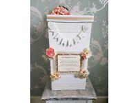 Handmade wedding post box