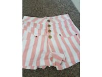 Ladies high waist shorts size 8 or small 10