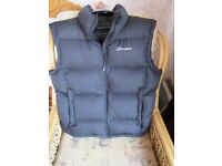 Berghaus men's body warmer, gilet. black, size XL